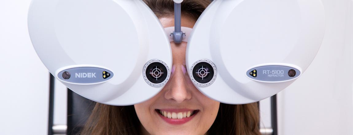 Augen Untersuchung